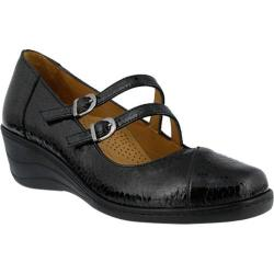 Women's Spring Step Thorny Mary Jane Black Patent Leather