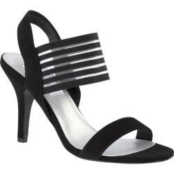 Women's Dyeables Priscilla Slingback Sandal Black Lame
