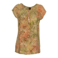 Women's Ojai Clothing Boho Peasant Short Sleeve Top Daisy
