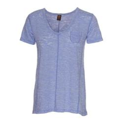 Women's Ojai Clothing Burnout Cap Sleeve Chambray
