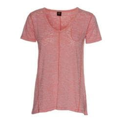 Women's Ojai Clothing Burnout Cap Sleeve Coral