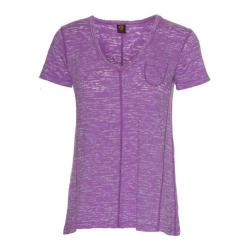 Women's Ojai Clothing Burnout Cap Sleeve Iris