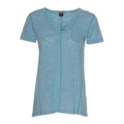 Women's Ojai Clothing Burnout Cap Sleeve Turquoise