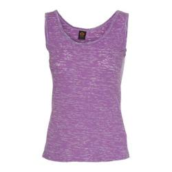 Women's Ojai Clothing Burnout Layering Tank Top Iris