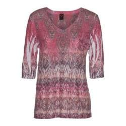Women's Ojai Clothing Burnout Relaxed Fit Vee Coral