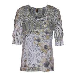 Women's Ojai Clothing Burnout Relaxed Fit Vee Daisy