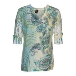 Women's Ojai Clothing Burnout Relaxed Fit Vee Moroccan Green