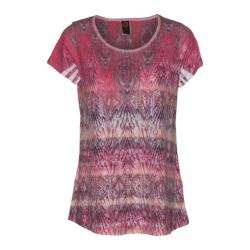 Women's Ojai Clothing Burnout Scoop Neck Short Sleeve Top Coral