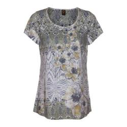 Women's Ojai Clothing Burnout Scoop Neck Short Sleeve Top Daisy