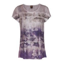 Women's Ojai Clothing Burnout Scoop Neck Short Sleeve Top Iris