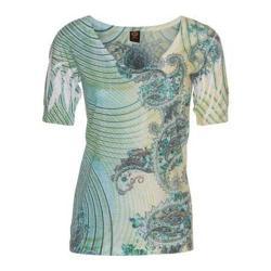Women's Ojai Clothing Burnout Vee Moroccan Green