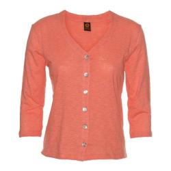 Women's Ojai Clothing Chopped Button Down Cardigan Coral