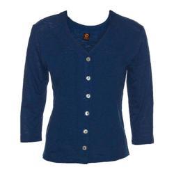 Women's Ojai Clothing Chopped Button Down Cardigan Indigo