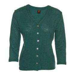 Women's Ojai Clothing Chopped Button Down Cardigan Moroccan Green