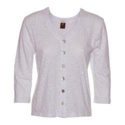 Women's Ojai Clothing Chopped Button Down Cardigan White