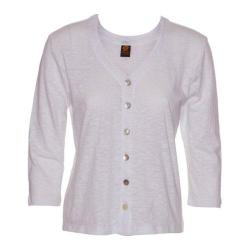 Women's Ojai Clothing Chopped Button Down Cardigan White (5 options available)