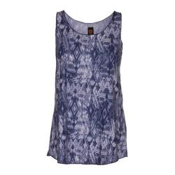 Women's Ojai Clothing Globe-Trotter Breezy Tank Top Indigo Geometric
