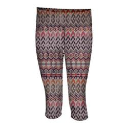 Women's Ojai Clothing Globe-Trotter Knicker Coral Needlepoint