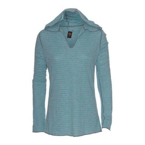 Women's Ojai Clothing Reversible Topa Hoody Turquoise