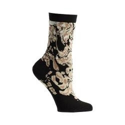 Women's Ozone Engrained Swirls Crew Socks (2 Pairs) Black