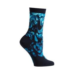 Women's Ozone Engrained Swirls Crew Socks (2 Pairs) Navy