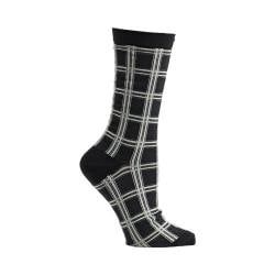 Women's Ozone Masaii Plaid Crew Socks (2 Pairs) Black