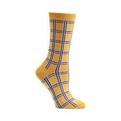Women's Ozone Masaii Plaid Crew Socks (2 Pairs) Sunflower