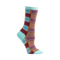 Women's Ozone Sahara Patchwork Crew Socks Blue