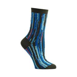 Women's Ozone Stripe Overlap Crew Socks (2 Pairs) Grey