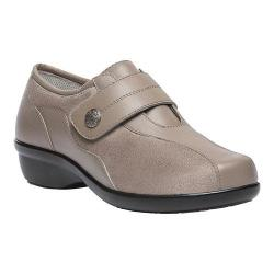 Women's Propet Diana Strap Casual Shoe Taupe Leather/Stretch Synthetic Suede