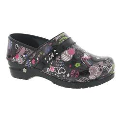 Women's Sanita Clogs Koi Butterfly Park Closed Back Clog Multi Printed Patent