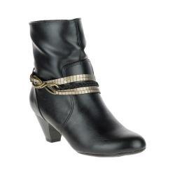 Women's Soft Style Gayla Ankle Boot Black Vitello