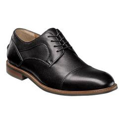 Men's Florsheim Frisco Cap Toe Oxford Black Smooth Leather