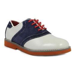 Boys' Florsheim Kennett Jr. Saddle Shoe Bone/Brick Corduroy Leather/Suede