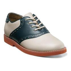 Boys' Florsheim Kennett Jr. Saddle Shoe Bone/Navy