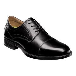 Men's Florsheim Midtown Cap Toe Oxford Black Smooth Leather