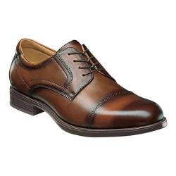 Men's Florsheim Midtown Cap Toe Oxford Cognac Smooth Leather