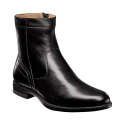 Men's Florsheim Midtown Plain Toe Zip Boot Black Smooth Leather