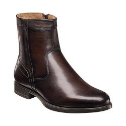 Men's Florsheim Midtown Plain Toe Zip Boot Brown Smooth Leather