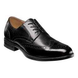 Men's Florsheim Midtown Wingtip Oxford Black Smooth Leather