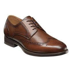 Men's Florsheim Midtown Wingtip Oxford Cognac Smooth Leather