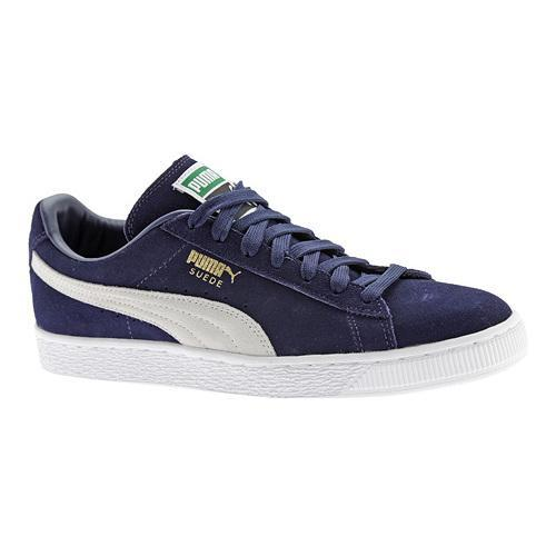 e66641d82f98 Shop Men s PUMA Suede Classic+ Peacoat White - On Sale - Free Shipping On  Orders Over  45 - Overstock.com - 12409556