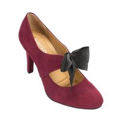 Women's Rialto Corra Ribbon High Heel Bordeaux Suedette/Synthetic