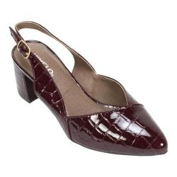 Women's Rialto Mimi Slingback Bordeaux Croco/Patent/Synthetic