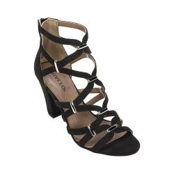 Women's Rialto Raylene Cage Sandal Black Suedette/Synthetic