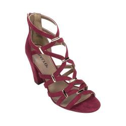 Women's Rialto Raylene Cage Sandal Bordeaux Suedette/Synthetic