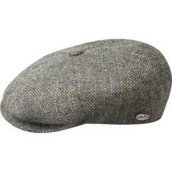Men's Bailey of Hollywood Galvin Stripe Herringbone Newsboy Cap 25240A Grey Multi