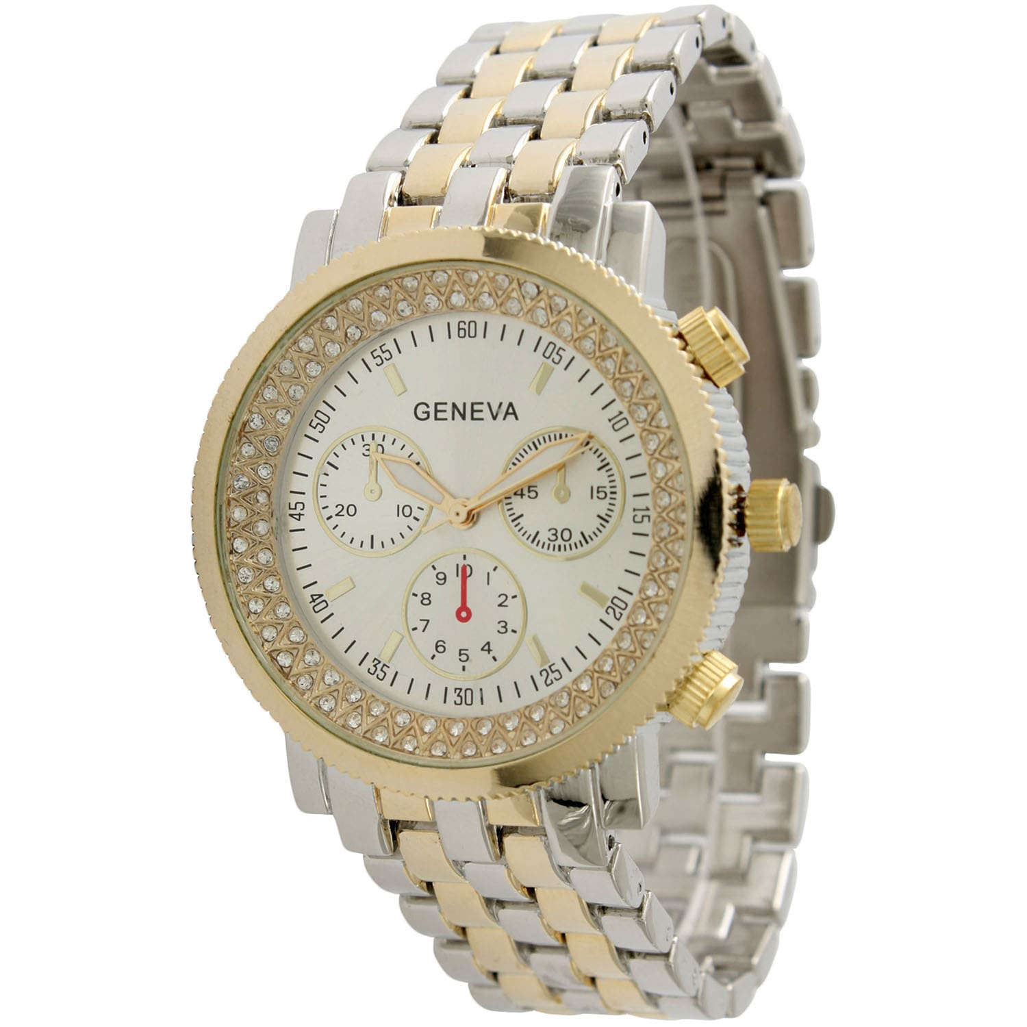 Olivia Pratt Elegant Two Tone Bracelet Watch