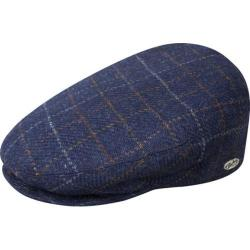 Men's Bailey of Hollywood Lord Windowpane Plaid Flat Cap 25237 Light Navy