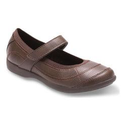 Girls' Hush Puppies Reese Mary Jane Brown Leather